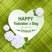 Happy Valentine's day holiday typographical background — Stock Vector