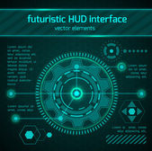 Futuristic HUD interface elements. — Stock Vector
