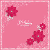 Romantic holiday background — Stock Vector