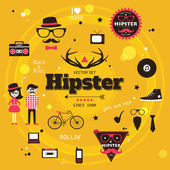 Hipster elements and icons — Stock Vector