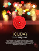Floral holiday background. — Stock Vector