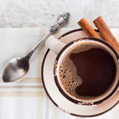 Coffee with cinnamon — Stock Photo