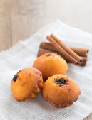 Muffins and Cinnamon — Stock Photo
