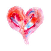 Abstract Watercolor heart — Stock Photo