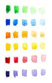 Watercolor gradient palette — Stock Photo