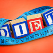 Diet word — Stock Photo