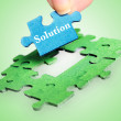 Stock Photo: Solution word