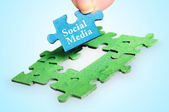 Social Media word — Stock Photo