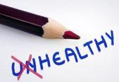 Unhealthy word — Stock Photo