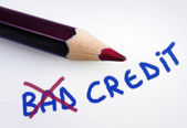 Bad credit word — Stock Photo