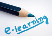 E-learning word — Stock Photo