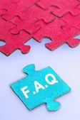 Puzzle word FAQ — Stock Photo