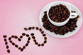 Love coffee — Stock Photo