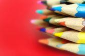 Vele gekleurde potlood — Stockfoto