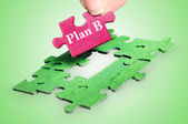 Puzzle word Plan B — Stock Photo
