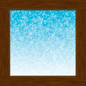 Window and snow — Stock Photo