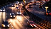 高速道路上の車のライト — ストック写真