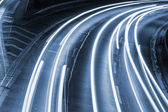 Lights on highway — Stock Photo