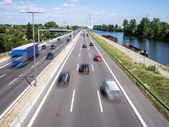 Cars on highway — Stock Photo