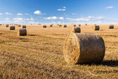 Straw bales and wind generator — Stok fotoğraf