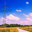 Stock Photo: Electrical tower in idyllic landscape