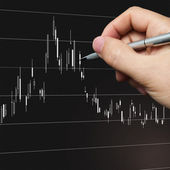 Chart analysis — Stock Photo