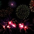Foto Stock: Fireworks background