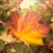 Leaf mosaic background — Stock Photo