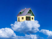 House on clouds — Stockfoto