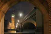 Big Ben and House of Parliament at Night — Stock Photo
