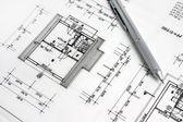 Parte del progetto architettonico. — Foto Stock