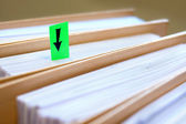 Green blank sticky notes - business concept. — Stock Photo
