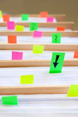 Colorful blank sticky notes - business concept. — Foto de Stock