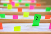 Colorful blank sticky notes - business concept. — ストック写真