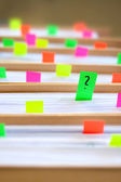 Colorful blank sticky notes - business concept. — Φωτογραφία Αρχείου