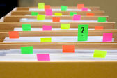 Colorful blank sticky notes - business concept. — Stock Photo