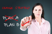 Business plan strategy changing. — Stock Photo
