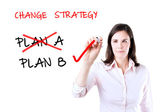Business plan strategy changing. Isolated on white. — Stock Photo