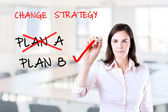 Business plan strategy changing. Office background. — Stock Photo