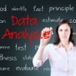 Young business woman writing data analysis concept — Stock Photo #46301667