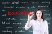 Young business woman writing education concept — Stock Photo