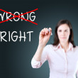 Choosing the Right way. Blue background. — Stock Photo #48331493