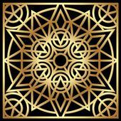 Golden geometric ornament — Vecteur