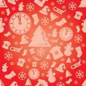 Christmas seamless pattern vector Background — Stock Vector