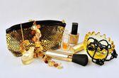 Women's jewelry, perfume and cosmetics — Stock Photo