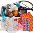Stock Photo: Still life of medical items used by doctors to treat