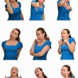 Mosaic Collage of various facial expressions and emotions — Stock Photo #40717633