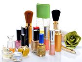Items for decorative cosmetics and makeup — Stock Photo