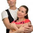 A man embraces beloved woman — Stock Photo #41567687