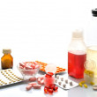 Still life of medical items used by doctors to treat — Stock Photo #41995795